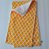 Yellow Lattice Burp Cloth Set