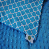 Moroccan Quatrefoil Burp Cloth Sets Turquoise