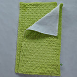 Apple Green Minky Burp Cloth