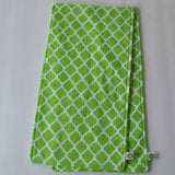Green Moroccan Lattice Burp Cloth