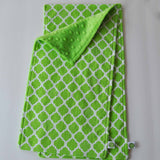 Lime Green Lattice Burp Cloth Set