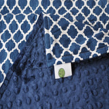 Navy Blue Lattice and Minky