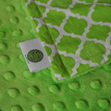 Lime Quatrefoil with Lime Minky