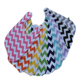 Cotton Chevron Baby Bib Color Options