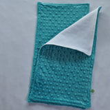 Teal Minky Burp Cloth