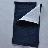 Navy Blue Minky Burp Cloth