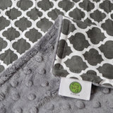 Gray Quatrefoil Blanket Gray Backing