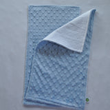 Light Blue Minky Burp Cloth