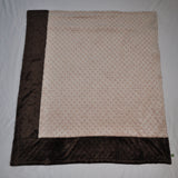 Tan and Brown Minky Blanket