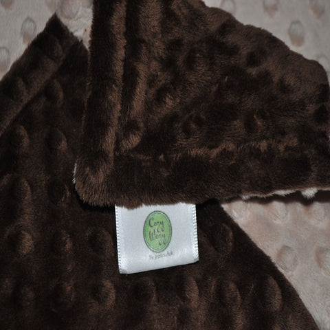 Brown and Tan Minky Blanket