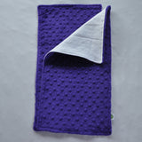 Bright Purple Minky Burp Cloth