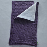 Purple Minky Burp Cloth