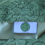 Green Paisley Blanket with Trim
