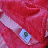 Pink Paisley Blanket with Trim