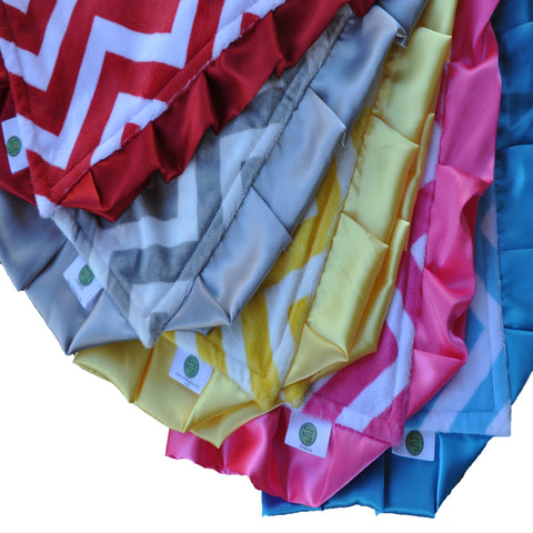 Chevron Minky Luxury Lovie/ Security Blanket 5 Colors Available