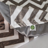 Chevron Minky Luxury Gray Lovie/ Security Blanket