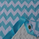 Close up of chevron security blanket