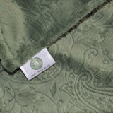 Green Paisley Baby Blanket