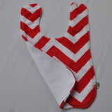 Chevron Minky Red Bib