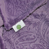 Purple Embossed Paisley