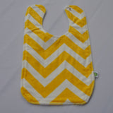 Chevron Minky Yellow Bib