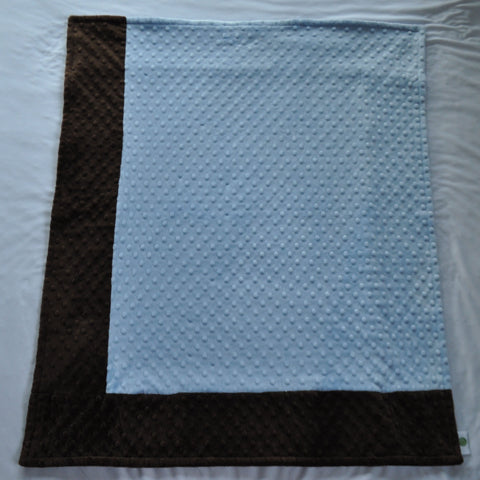 Blue and Brown Minky Blanket