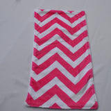 Pink Chevron Minky Burp Cloths