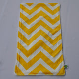 Chevron Minky Burp Cloth Yellow  backed with Birdseye cotton 2 pack