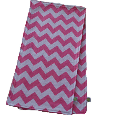 Pink Chevron Burp Cloth