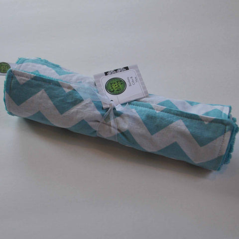 2 Pack Chevron Burp Cloth