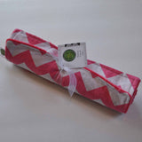 2 Pack Pink Chevron Burp Cloths