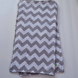Gray Chevron with Gray Minky