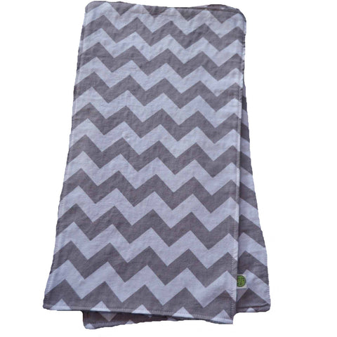 Gray Chevron Burp Cloth