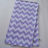Purple Chevron with Lavender Minky