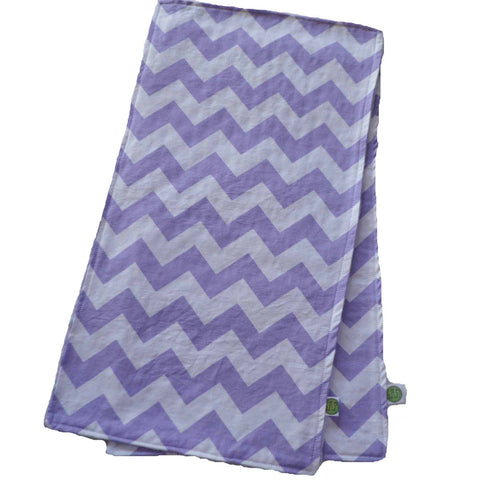 Purple Chevron Burp Cloth