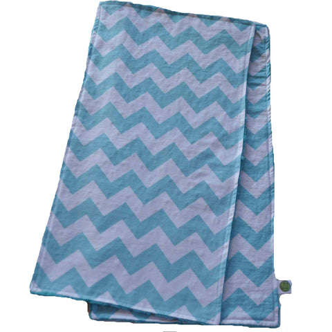 Aqua Chevron Burp Cloth