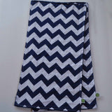 Navy Chevron Burp Cloth with Navy Minky Back