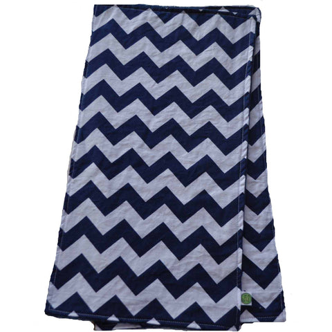 Navy Blue Chevron Burp Cloth
