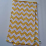 Yellow Chevron Burp Cloth with Yellow Minky Back