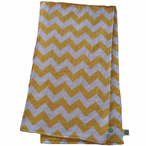 Yellow Chevron Burp Cloth