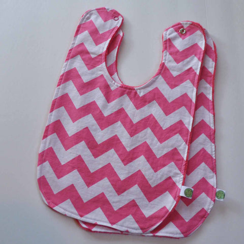 Pink chevron with pink minky