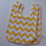 Yellow Chevron Baby Bib