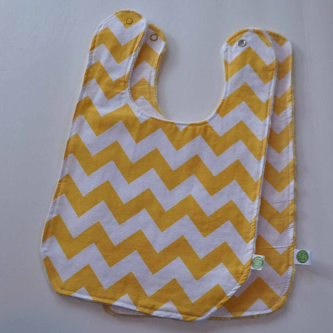 Yellow chevron with yellow minky