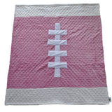 Pink Football Baby Blanket