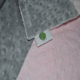 Pink and Gray Minky Baby Blanket