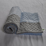 Blue and Gray minky blanket