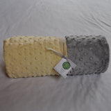 Signature Minky Baby Blanket Pastel Yellow and Gray