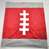 Crimson and Gray Football Baby Blanket