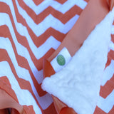 Chevron Lovie Security Blanket Orange
