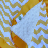 Chevron Lovie Security Blanket Yellow